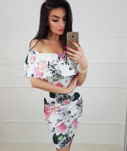 HISZPANKA FLOWER - white