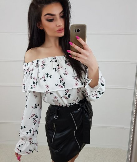 HISZPANKA FLOWERS - white